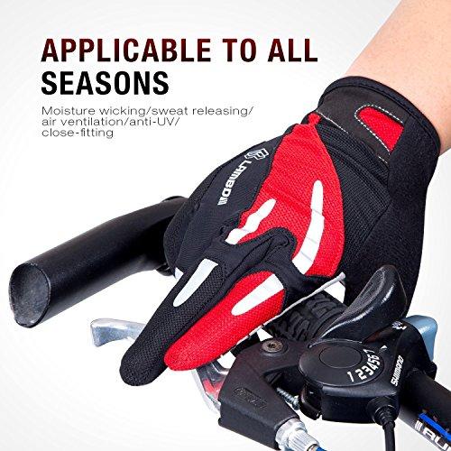 4ucycling Touchscreen Fahrradhandschuhe mit Gel Padded Super Atmungsaktiv Radsport Handschuhe XL - 8