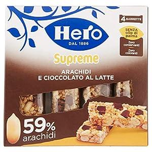 Barrette ai cereali Supreme Arachidi e Cioccolato Latte Confezione 4 X 24 g 1 spesavip