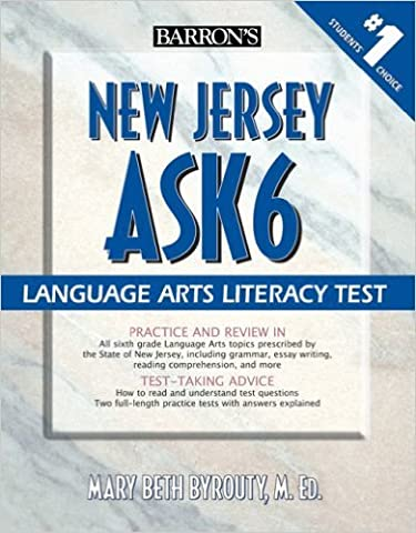Barron's New Jersey Ask6 Language Arts Literacy Test