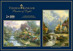 Gibsons Puzzle, Lamplight Bridge y Mountain Chapel, 2 Puzzle de 500 Piezas