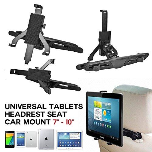 Universal HeadRest Tablet Holder Mount Stand, Car Seat Kit For Tablets (7