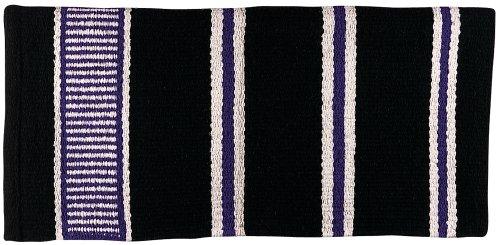 1460 Leder (Weaver Leder Doppelgewebe Sattel Decke, schwarz/Creme/violett)