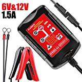 Audew Chargeur Batterie pour Voiture 6V/12V 1.5Amp Chargeur Intelligent Voiture et...