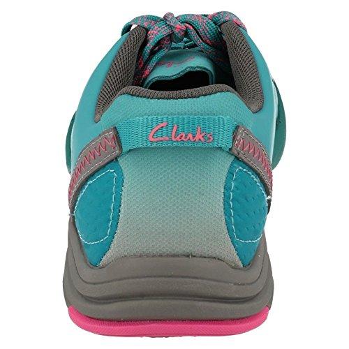 Clarks ,  Damen Durchgängies Plateau Sandalen mit Keilabsatz Blaugrün