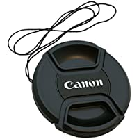 smars Front Replacement Lens Cap Camera Lens Cover with 58 mm Center Pinch for Canon DSLR (Black)