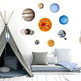 Ycank, adesivi in PVC fosforescenti, per camera da letto, luminosi, pianeti in dieci pianeti