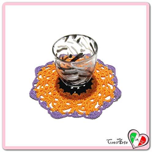 tzer fur Halloween - Größe: ø 13 cm - Handmade - ITALY ()