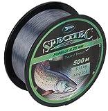 Specitec Forelle Schnur 0,25mm - Farbe : Smoke Clear Transparent - Angelschnur monofil Zielfischschnur Forellenschnur