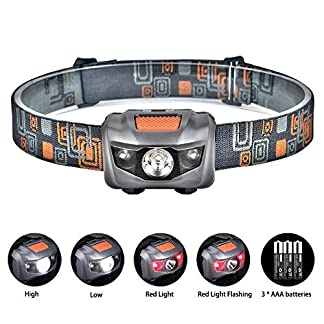 Linkax LED Headlamp Headlight Head Torch Super Bright 120 Lumens LED Head Lamp Flash Light 4 Modes Helmet Light for Running Camping Hiking Fishing 3 AAA Batteries Included 16