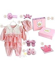 SHISHANG Set de cadeaux pour bébés Boîte cadeau Boy Girl Cadeaux pour bébés pour 0-12 mois Nouveau-né 93% Coton + 7% Spandex Four Seasons Gift Bag , 60cm