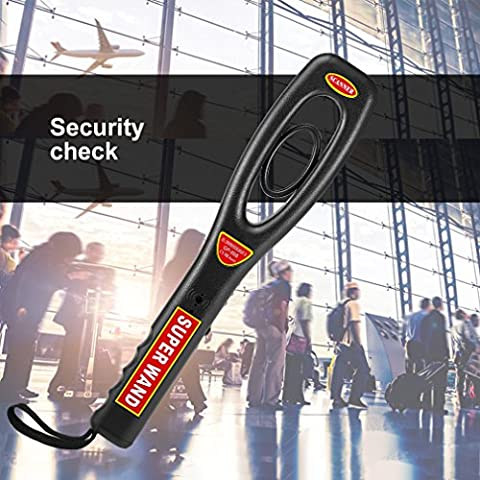 Handheld Metal Detector, LESHP Hand-held Security Detector With Adjustable Sensitivity Optional Rechargeable Battery Vibrator Button Portable Light-weight Security Scanner Wand Black