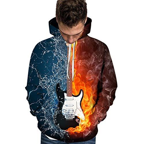 Aoogo Männer/Frauen Musiknoten 3D Gedruckt Hoodie Musik Langarm Hoodies Mann Lässig Hip Hop Lustig Streetwear Hoodies Sweatshirt