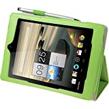 Leather Case for Acer Iconia A1-810 - Premium green - Cover PhoneNatic + protective foils