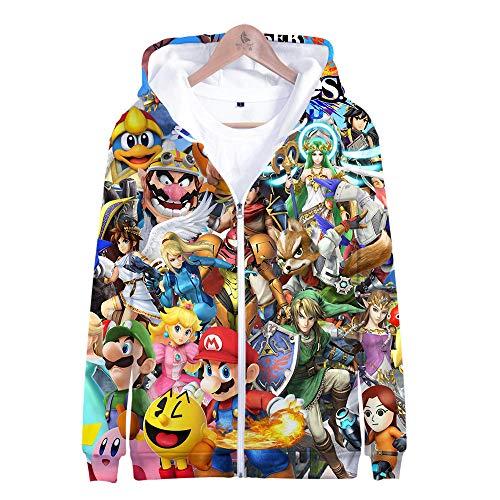 Kostüm Bros Alle Smash - Kapuzenpullover,Super Smash Bros Man Beiläufige Hoodies Pullover Langarm 3D Pullover Sweatshirts Lust auf Hoodie mit @ Anime_L