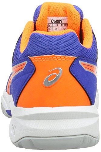 Asics Gel-resolution 6 Gs, Chaussures de Tennis Mixte enfant Bleu (Blue/Flash Orange/Silver 4230)