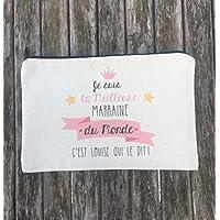 Pochette personnalisable Pour Marraine, Maman, Mamie, Tata, Maitresse, Atsem, Avs. Idéal en cadeau !