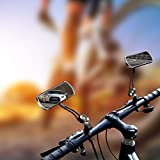 JINSANSHUN Fahrradspiegel 2pcs. MTB Fahrrad Rückspiegel 360°Drehung Schwanenhals Radfahren Lenkspiegel Spiegelreflektor