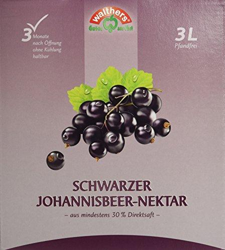 Walthers Schwarzer Johannisbeer-Nektar, 2er Pack (2 x 3 l Saftbox) - Schwarz Saft