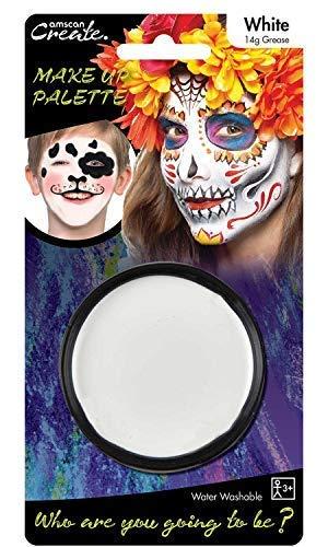 Herren Damen Kinder Mädchen weiß Lack, Make Up Skelett Fantasma Vampir Totenkopf Halloween Accessori.