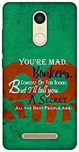 The Racoon Grip Bonkers hard plastic printed back case / cover for Xiaomi Redmi Note 3