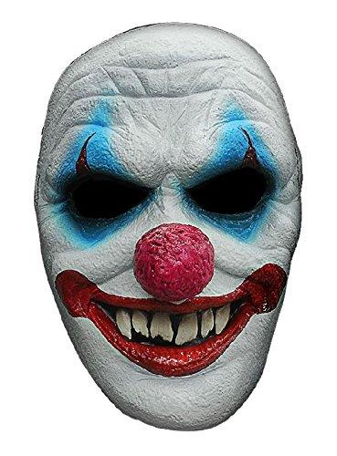 Clown Maske des Grauens aus Latex zum Horrorclown Kostüm Halloween