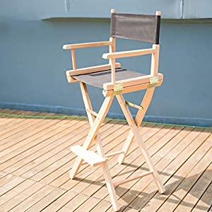 ZCCDYY Director's chair Makeup chair Folding chair Display chair Advertising chair Creative chair Solid wood Stage props (size: 118cm)