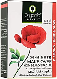 Organic Harvest Diamond - Shine and Glow Facial Kit (Cleansing Milk, Face Scrub, Massage Cream, Face Mask, Ser