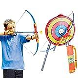 YAHAMA Pfeil und Bogen Kinder Set mit Köcher Bogenschießen Zielscheibe Saugnapf Bogen Zielscheibe Kinder ab 6