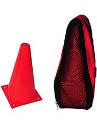 20 Conos de señalización – con bolsa de transporte – rojo