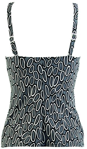 Red Point Beachwear, Damen, Bikini BH, Tankini mit Softschalen, Cup B, Basil, Motive Grau