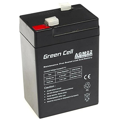 Green Cell® Akku Batterie AGM (6V 4.5Ah VRLA Faston F1)