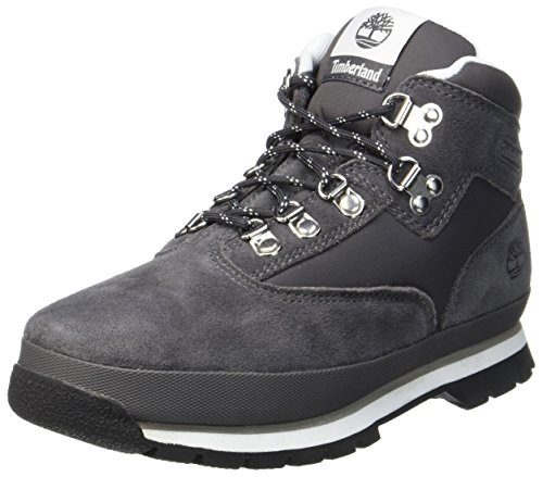 55a92d1e7914cb Timberland Kid's Euro Hiker Leather and Fabric Chukka, Grey (Forged Iron),  5.5
