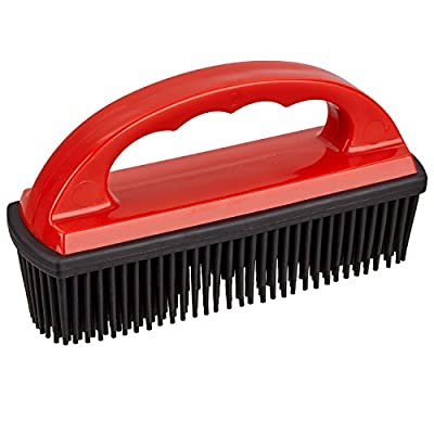 TECAROO Rubber Pet Hair Removal Brush for furniture, upholstery, car-seats, carpets and rugs   2 Year Satisfaction Guarantee   pet hair removal brush, clothes brush, cleaning comb, brush to remove fur and animal hair from clothing, bedding and around the
