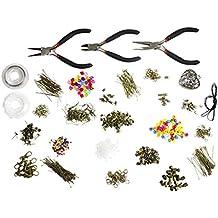Set de lujo de 1000 piezas con herramientas, piezas, cuentas, cordel, alambre, y accesorios en chapa de bronce por Kurtzy TM