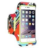 for iphone case & covers Fashion Cool Concise Portable Durable Elegante Resistente, per iPhone 8 & 7 & 6s & 6 FLOVEME Stampato Universal Smart Touch Fascia da braccio per telefono ( Colore : Verde )