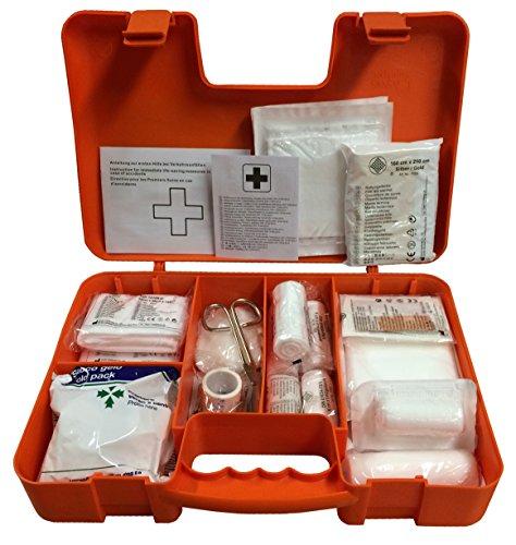 Erste-Hilfe-set mit Füllung DIN 13157 + DIN 13164 ( Verbandbuch, Notfall-Beatmungshilfe, Alkoholtupfern,...)