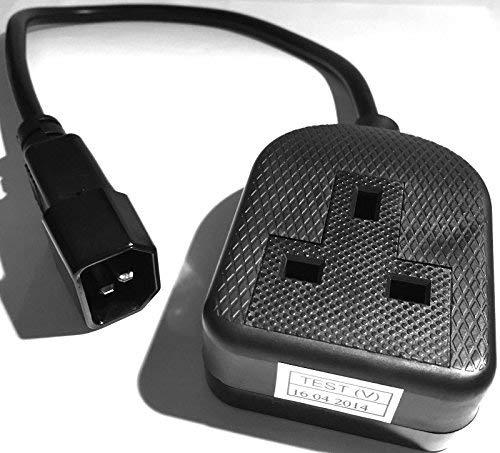 USV Kabel Iec C14 Netzstecker Stecker zu 13a Sockel Buchse Schwarz 1m - 13a-stecker