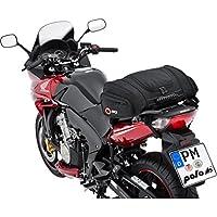 QBag Bolsa trasera para motocicleta 05 de QBag para el asiento del acompañante/portaequipajes 22-30 litros de capacidad fácil de llenar/vaciar, incl. capota de lluvia negra