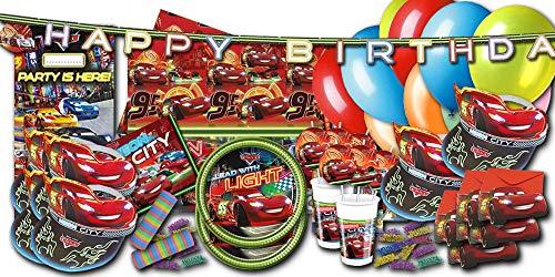 Kindergeburtstag Partydekoset Cars XXL - Partygeschirr & Partydeko