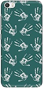 The Racoon Grip printed designer hard back mobile phone case cover for Xiaomi Mi 5. (Blue Hand)