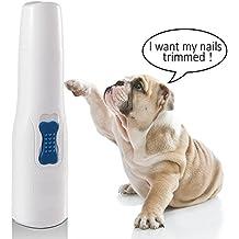 Lima de uñas eléctrica para mascotas, WOLFWILL Nail Grinder Patas apacibles Cortadora de uñas cortadora
