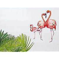 Comparador de precios Decowood Cabecero con Diseño Flamencos, Madera, Blanco, 105 x 80 x 3 cm - precios baratos