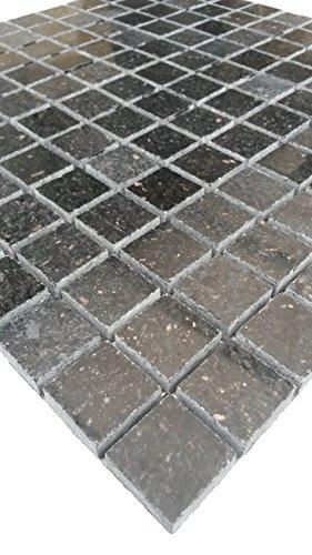 Granit Mosaik Matte Star Galaxy Schwarz 30x30 cm 8 mm Matt-Poliert mix -