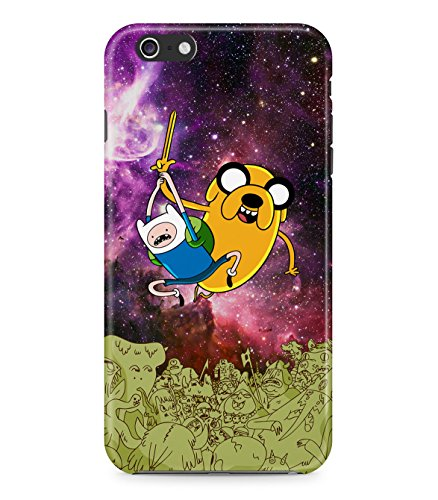 Adventure Time Jake The Dog Finn The Human Space Attack Trippy Acid Cosmic Galaxy Hard Plastic Snap On Back Case Cover For Iphone 6 Custodia