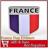 oxita (Alu insignia emblema adhesivo para coche (TM) Shield insignia 3d pegatina del coche cuerpo pegatina del Reino Unido Francia Italia diseño de bandera de Alemania