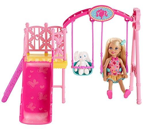 Chelsea-zubehör-set (Mattel Barbie BDG48 - Puppe, Fab Family Chelsea Schaukel Spielset)