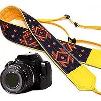 intepro Native American inspiriert Kameragurt. Gelb Southwestern Ethnische Kamera Gurt. Helle Tribal Kameragurt. DSLR/SLR Kamera Gurt. Robust, leichtes und gut gepolstert Kamera Strap. Code 00065