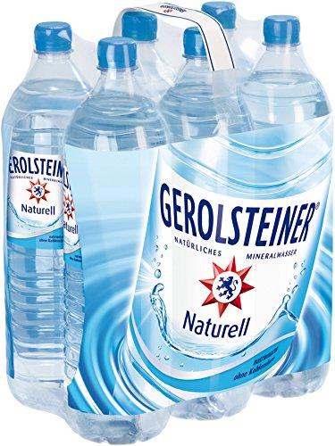 Gerolsteiner Naturell / Natürliches Mineralwasser ohne Kohlensäure / Geeignet für eine natriumarme Ernährung / 6 x 1,5 L PET Einweg Flaschen Test
