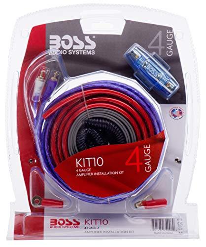 BOSS AUDIO KIT-10 4 Gauge 5,19 mm Auto Installations-Set Verstärker Endstufe Kabel Anschlusskabel Cinch Kabel