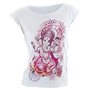 Natural Born Yogi Damen Yoga Shirt Groovy Ganesha